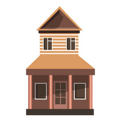 tall vintage house vector image