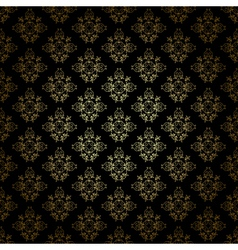 Black decorative pattern with gold gradient vector