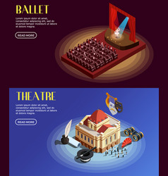 Opera and ballet banners vector