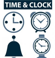 Time  clock signs vector