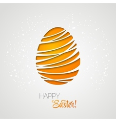 Happy easter card decorated paper egg vector