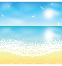 Sand beach at sunset time vector