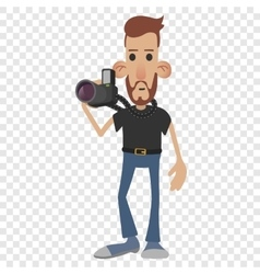 Photographer cartoon icon vector