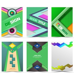 Set of flyer brochure design templates vector