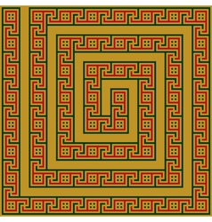 Greece maze ornament vector image