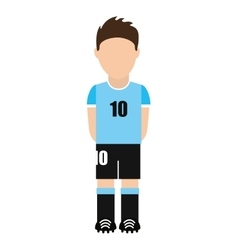 argentina football player shirt icon vector image vector image
