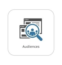 Audiences Icon Flat Design vector image
