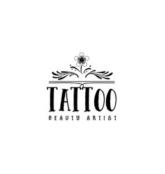 Badge for small businesses - beauty salon tattoo vector
