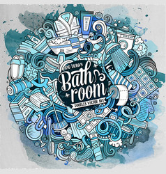cartoon cute doodles bathroom vector image