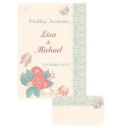 Design wedding invitation in retro style vector
