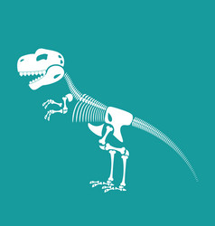 dinosaur skeleton isolated remains of vector image