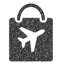 Duty free bag icon rubber stamp vector