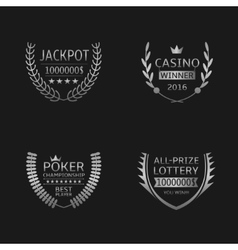 Gambling game labels vector