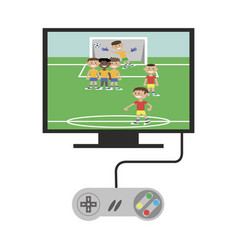 Game console tvretro game console connected to tv vector