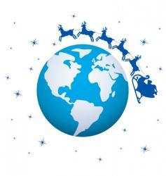 global Christmas background vector image