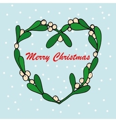 Hand drawn of mistletoe sprigs vector