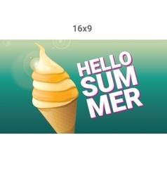 Hello summer creative concept background vector image