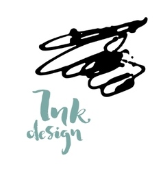 ink splashes design vector image