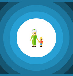 Isolated grandson flat icon grandma vector