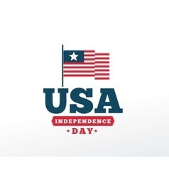 July fourth United Stated independence day vector image