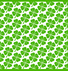 Lucky irish clover for st patricks day vector