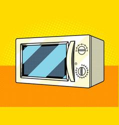 Microwave oven pop art style vector