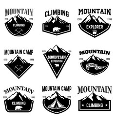 Mountain camp emblem templates design element for vector