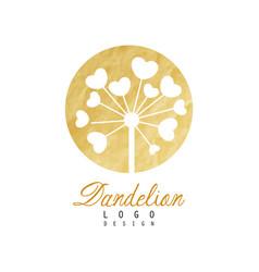 Original logo design of dandelion flower natural vector