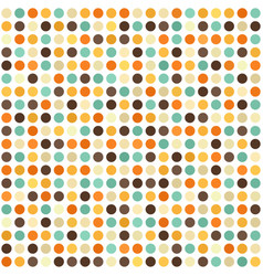 Polka dot pattern seamless retro background vector