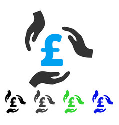 Pound care hands flat icon vector