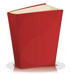 Red book isolated on white vector
