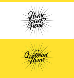 Set of hand written lettering quotes for home vector
