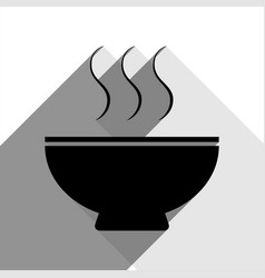 soup sign black icon with two flat gray vector image vector image