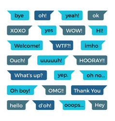 Text phone chat messages collection with vector
