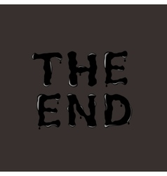 THE END text vector image vector image