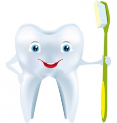 tooth smile vector image