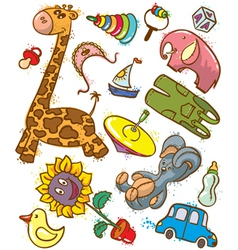 toys doodles vector image vector image