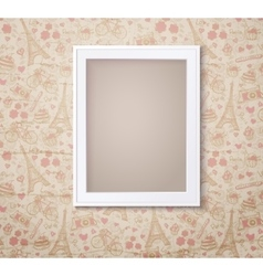 Vintage white photoframe on french fashioned vector image vector image