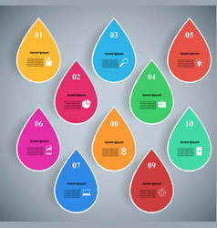Water icon business infographics vector