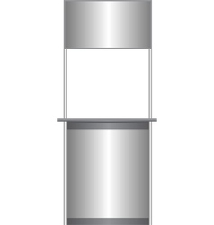 White counter vector image vector image