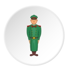 Soldiers in uniform icon cartoon style vector