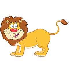 Lion cartoon mascot character vector