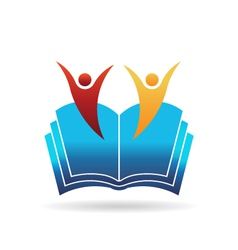 People book education logo vector image