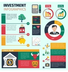Investment infographics set vector