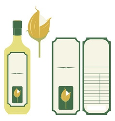Label rice oil vector