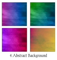 A set of four colorful abstract backgrounds vector