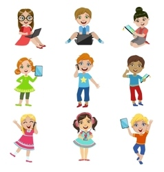 Kids And Modern Technology vector image