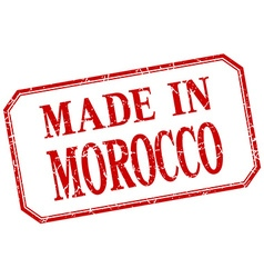 Morocco - made in red vintage isolated label vector