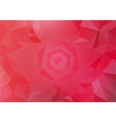 Warm color tone polygonal vector
