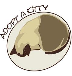 Adopt a kitty vector